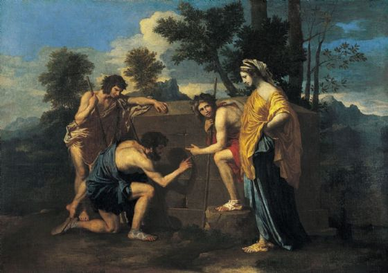 Poussin, Nicolas: The Arcadian Shepherds/Et in Arcadia Ego. Fine Art Print/Poster. Sizes: A1/A2/A3/A4 (001661)